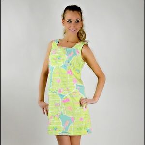 White label Lilly palm beach lime green dress